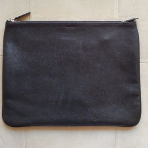 Cole Haan black leather document pouch